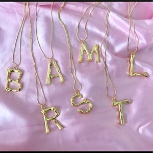 Jewelry - Gold Initial Alphabet Letter Name Necklace